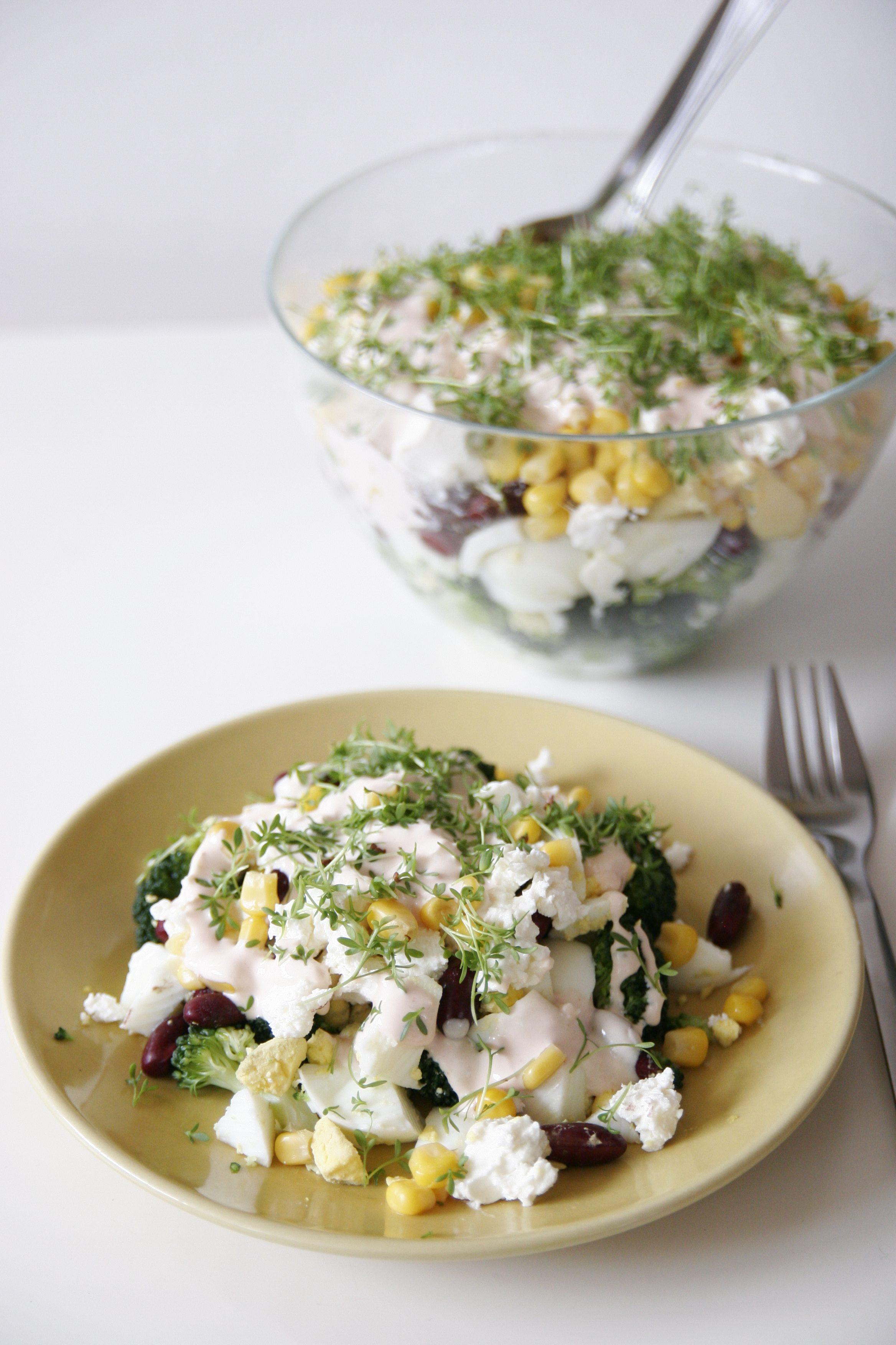 Salatka Z Brokulami Feta I Jajkiem Qulinarna